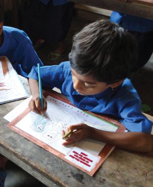 Bangladesh child studying