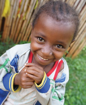Ethiopian child smiling